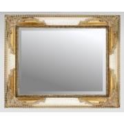 Ivory Crackle & Gilt 36x24 Bevelled Mirror