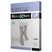 Relaxsan gumírozás nélküli ezüstszálas bokazokni cukorbetegeknek is (X-Static, 550), bézs, 1