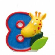 Lumanare cifra 8 girafa