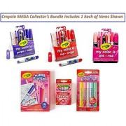 Crayola MEGA Collectors Bundle: Valentines Stamper Set Glitter Glue Set and Crayon Set My Color is Purple-Violet My Color is Pink-Rose Set My Color is Red-Rouge Set (Bundle Includes 1 of Each Set)
