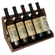 Stojan na 5 vín dřevěný