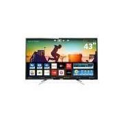 Smart TV LED 43 UHD 4K Philips 43PUG6102 com Micro Dimming, Pixel Plus, Incredible Surround, HDMI e USB