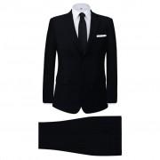 vidaXL Мъжки костюм, черен, 2 части, размер 54