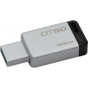 Stick USB Kingston DataTraveler 50, 128GB, USB 3.1 (Metal/Negru)