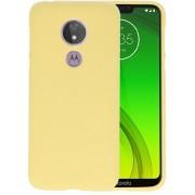 Color TPU Hoesje voor Motorola Moto G7 Power Geel