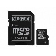 Kingston Memoria Flash Kingston, 8GB microSDHC Clase 4, con Adaptador SDC4/8GB