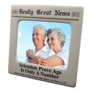 Enesco Really Great News Marco de Fotos para periódicos, 4 x 5 cm