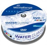 DVD-R MediaRange 4,7GB 16x Waterguard Photo Inkjet Fullprintable (Printable) - 25 бр. в шпиндел