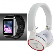 Zemini GT08 Smart Watch and SH 10 Bluetooth Headphone for LG OPTIMUS 4X HD(GT08 Smart Watch with 4G sim card camera memory card |SH 10 Bluetooth Headphone )