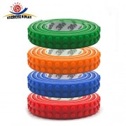 EXERCISE N PLAY 4 Rolls Loops Building Block Tape Roll Self-Adhesive Compatible with all Major Brands