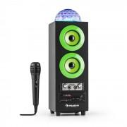 Auna DiscoStar Green portabler 2.1-Bluetooth-Lautsprecher USB Akku LED Mikro