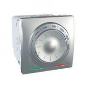 Termostat pentru incalzire in pardoseala, 2 module, aluminiu