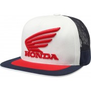 Fox Honda Snapback Sombrero Blanco Azul un tamaño