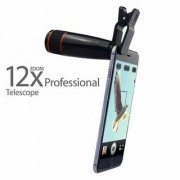 Mobile Telescope Lens kit with 12X Zoom for All Mobile Camera DSLR Blur Background Effect Android iOS Devices(Balck)