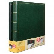 Brepols Lot de 2 albums photo classique vert simili cuir