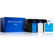 Bvlgari BLV pour homme coffret VI. Eau de Toilette 100 ml + bálsamo after shave 75 ml + gel de duche 75 ml + bolsa de cosméticos