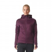 adidas Women's ZNE Heat Training Hoody - Purple - L - Purple
