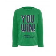 NAME IT Cool Printed Long Sleeved Blouse Green
