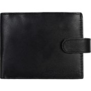 Kinetic Leathers Men Black Genuine Leather Wallet(3 Card Slots)