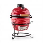 "Klarstein PRINCE-SIZED KAMADO GRILL керамично барбекю фурна 11"" опушване BBQ готвене на бавен огън червено (GQ13-Princesize-R)"