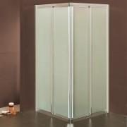 Box doccia scorrevole ad angolo 4103/4111 da 78/82 a 118/122 cm in cristallo 4 mm Brill Satinato