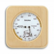 Термометър-хидрометър за сауна, дървен - 40.1007