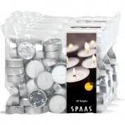 Candles by Spaas 150x Witte waxinelichten/theelichten 4,5 branduren in zak