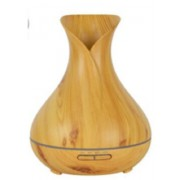 Tulipános aroma diffúzor, világos fa-mintázatú 400 ml-es