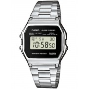 Ceas barbatesc Casio A158WEA-1EF Collection Cronograf 3 ATM 33 mm