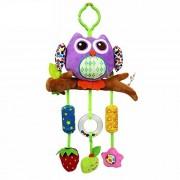 Baby Grow Baby Crib & Stroller Plush Playing Toy Car Hanging Rattles (Purple Owl)