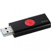 Kingston USB 3.0 Flash Drive DataTraveler 106 64 GB Black, Red
