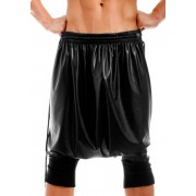 Modus Vivendi Latex Skirt Bermuda Shorts Black 11263