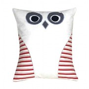 Oscar Home Shaped Pillow Owl Shape Pillow Soft Toy Perfect Birthday Gift for Kids / Children - Dimension: 11x9 Inches Plush Pillow Toy - Stuffed Pillow Material: Soft Cotton, Poly-fiber Filling Cushion-White,Red