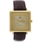 Q&Q Quartz Gold Square Men Watch 100S194-100Y