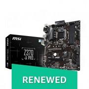 MSI PRO Series Intel 8th Gen LGA 1151 M.2 D-Sub DVI DP USB 3.0 Gigabit LAN CFX ATX Motherboard (Z370-A PRO) (Renewed)