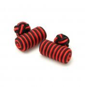 manșetă butoni (model 18) 7256 în rosu-negru culoare