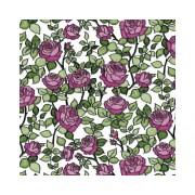 Autocolant Jerada imprimeu trandafiri roz/verde 45x200 cm