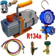Kit Pompe a Vide pour Recharge Clim Auto R134a