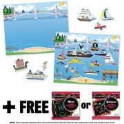 Vehicles: Reusable Sticker Pad + FREE Melissa & Doug Scratch Art Mini-Pad Bundle [41997]