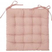 Atmosphera Růžový polštář v módním designu, prošívaný polštář pro větší pohodlí u stolu