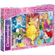 Puzzle Brilliant Printesele Disney Clementoni 104 piese