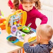 HOMCOM ® Juguete de Cocina 22 Pcs Set Utensilios de Mini Cocina para Niños +3 Años