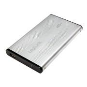 """Logilink 2,5"""" IDE USB 2.0 Aluminium Silver UA0040A"""