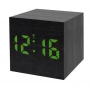 Statie meteo Bresser MyTime WAC RC, termometru, alarma, LED verde, Negru