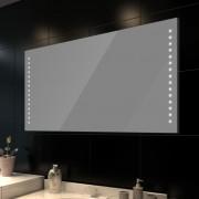 vidaXL Стенно огледало за баня със LED светлини, 100 x 60 см (Д х В)