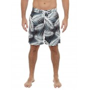 UZZI Stretch Tropical Boardshorts Beachwear Black MBS03