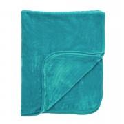 Dreamscene Luxurious Faux Fur Throw - Teal - 200x240cm - Green