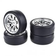 Peanut Fly 4pcs 1/10 Rc Scale Car On Road Drift wheels Tires Set Tyre Wheel Rim for Traxxas Hsp Tamiya Hpi