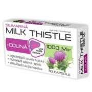 Silimarina Milk Thistle + Colina 1000 mg x 90 capsule + 30 capsule Gratis Zdrovit