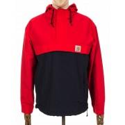 Carhartt Nimbus Two Tone Pullover Jacket - Goji/Dark Navy Colour: Goji